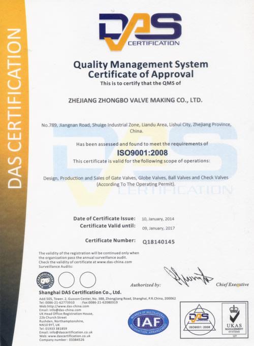 Quality Management - Kangwei Valve